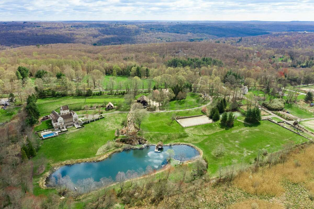 On the property, you will find a 300-foot stream with waterfalls and a 3-acre pond with bass and brown trout.
