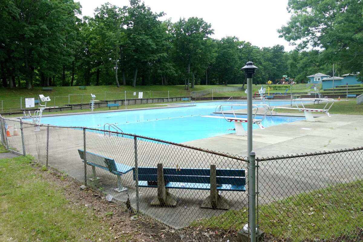 A view of the Lansing's Pool in Lansing Park on Wednesday, July 1, 2020, in Cohoes, N.Y. The pool will open on July 5th for the summer swimming season limiting swimming to city residents only. (Paul Buckowski/Times Union)