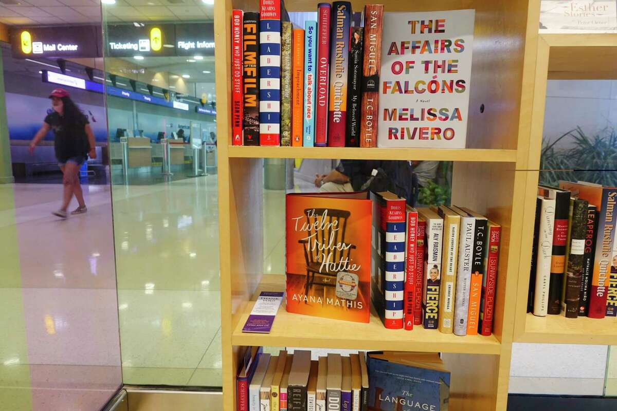 A view of some books on a shelf inside the Mario and Matilda Cuomo Pavilion at the Albany International Airport on Wednesday, July 1, 2020, in Colonie, N.Y. The airport authority and the New York State Writers Institute have teamed up to create a readers' nook in the airport terminal. (Paul Buckowski/Times Union)