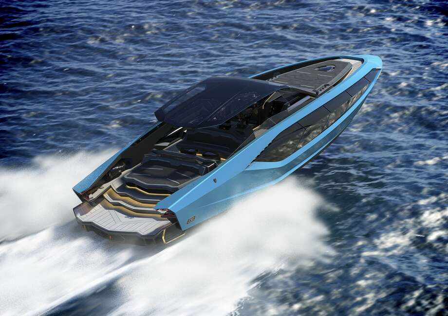 Can't get your hands on the Sián hybrid supercar? Get the boat instead. Photo: Lamborghini/Handout