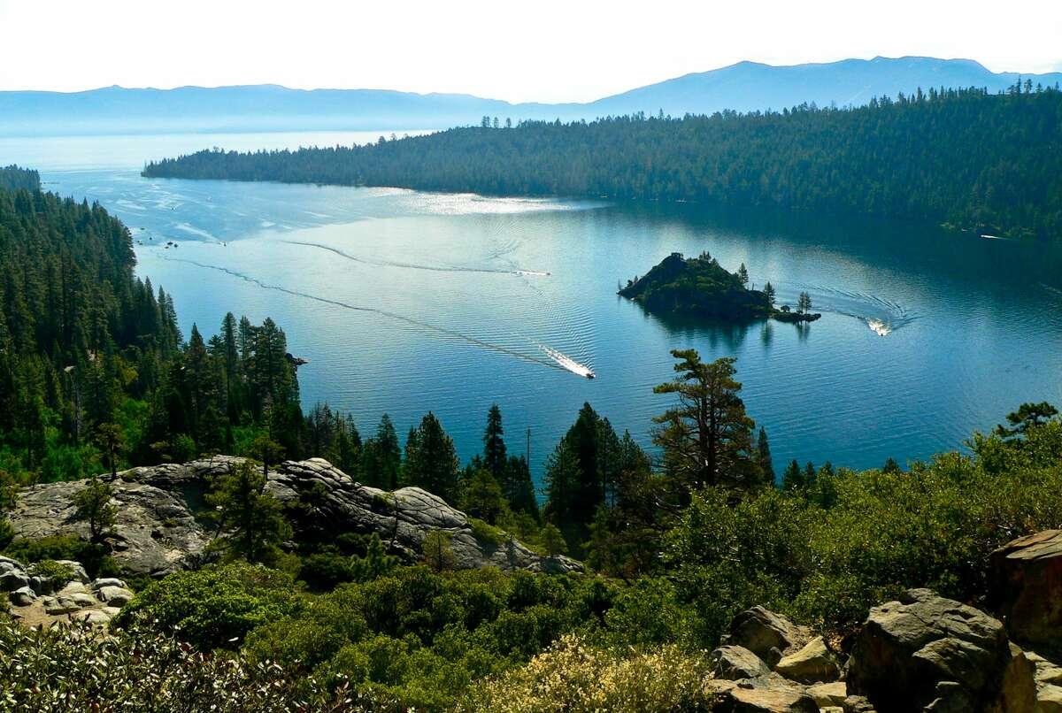 A summer day at Emerald Bay, Lake Tahoe, California.