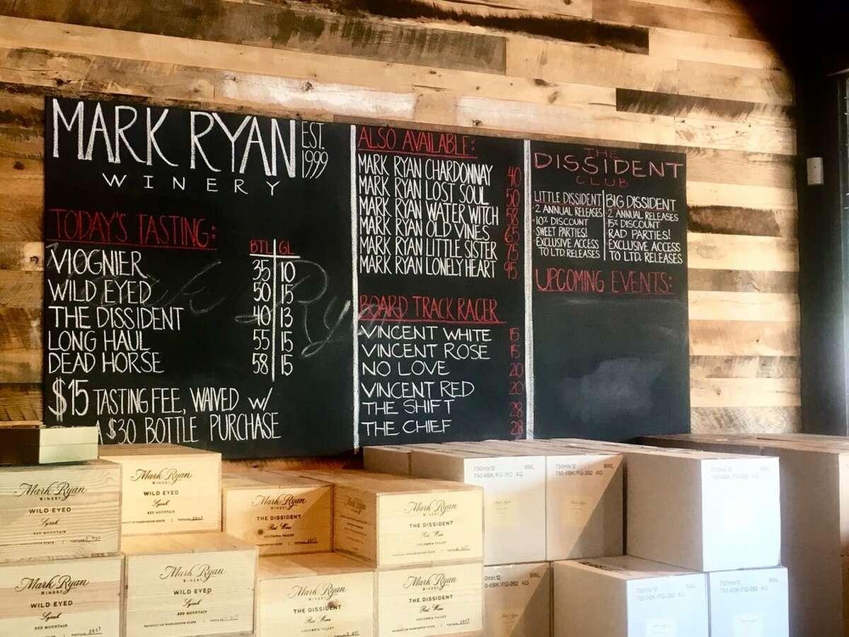Mark Ryan opens second wine tasting room in Walla Walla, Washington.
