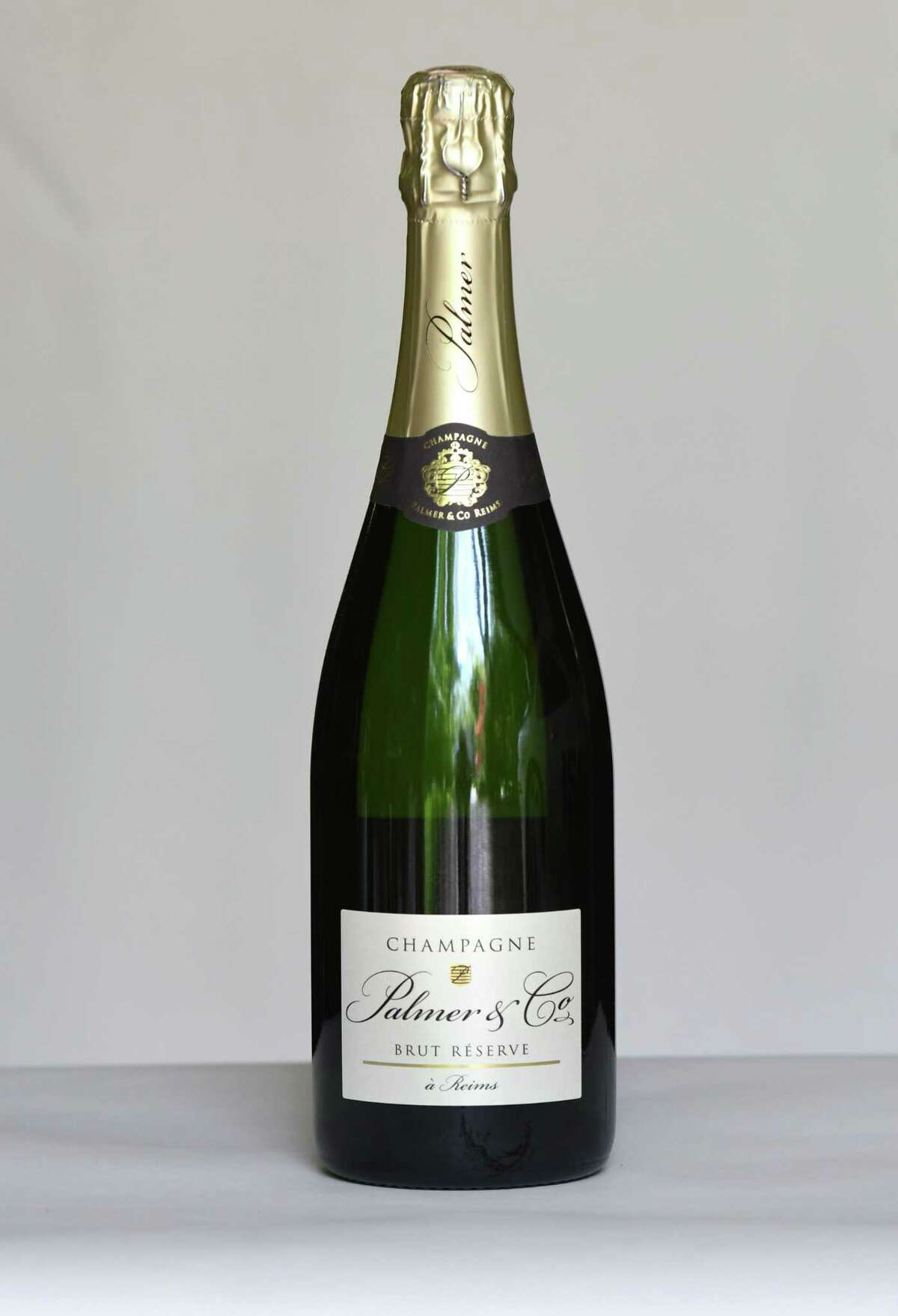 Palmer Champagne brut reserve on Tuesday, May, 19, 2020, in Delmar, N.Y. (Will Waldron/Times Union)
