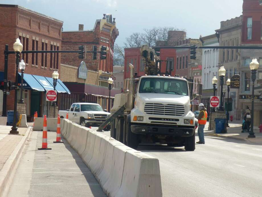 The city of Manistee is currently rehabilitating problematic manhole covers and sanitary sewer lines. Some of that work entails lining pipes which protects the wastewater treatment plant from added influxes of groundwater while also adding decades to the lines' lifespan. (File photo)