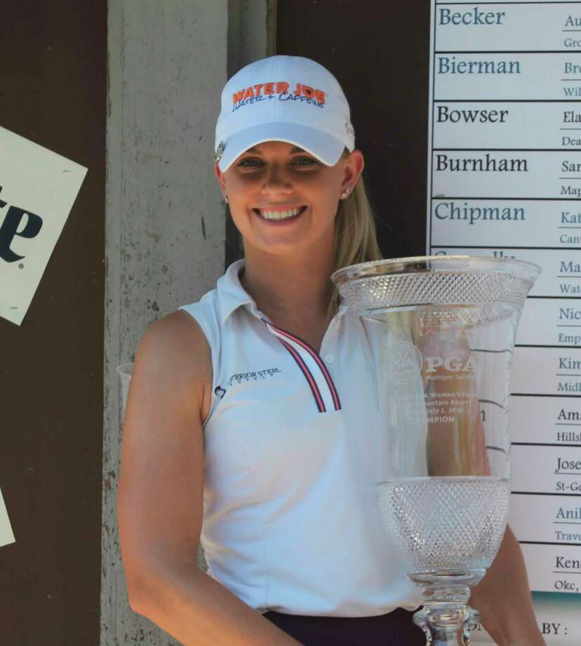 Sarah Burnham recorded a 9-under 63 Wednesday to finish with an 18-under 198 to win the 54-hole Michigan PGA's Women's Open Championship. (Kyle Kotecki/News Advocate)