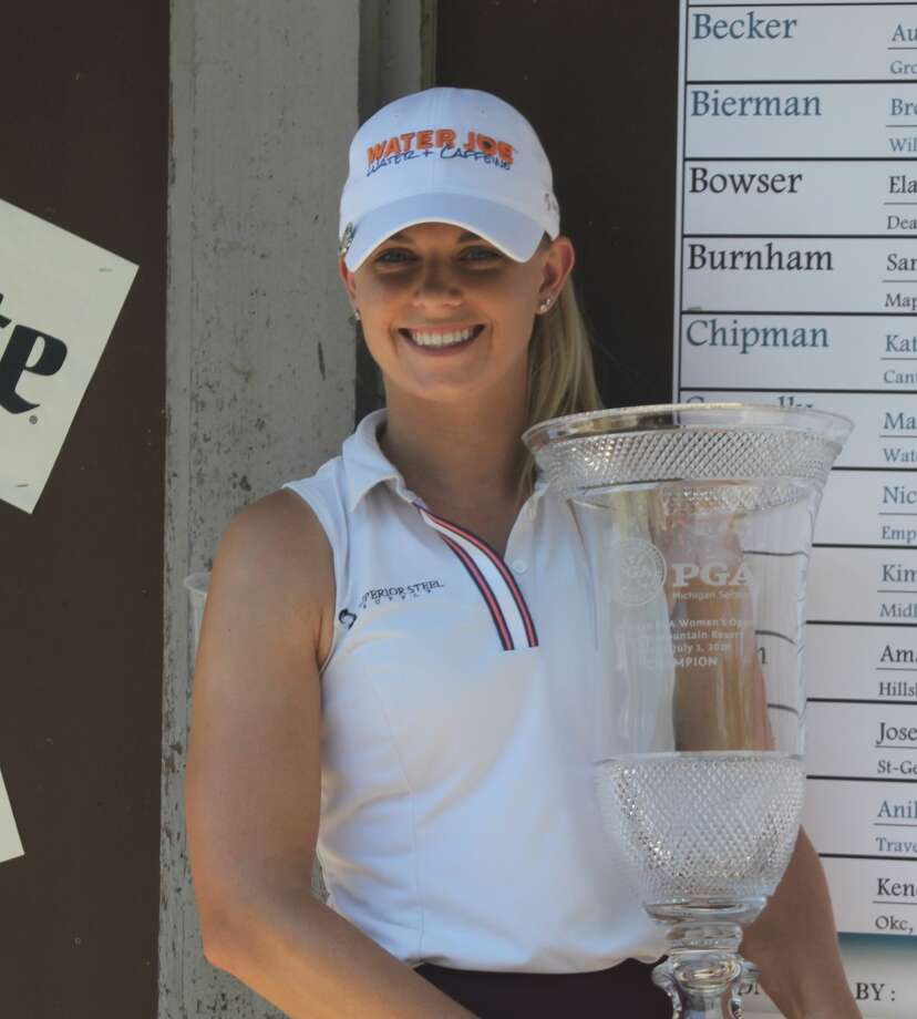 Sarah Burnham recorded a 9-under 63 Wednesday to finish with an 18-under 198 to win the 54-hole Michigan PGA's Women's Open Championship. Photo: Kyle Kotecki/News Advocate