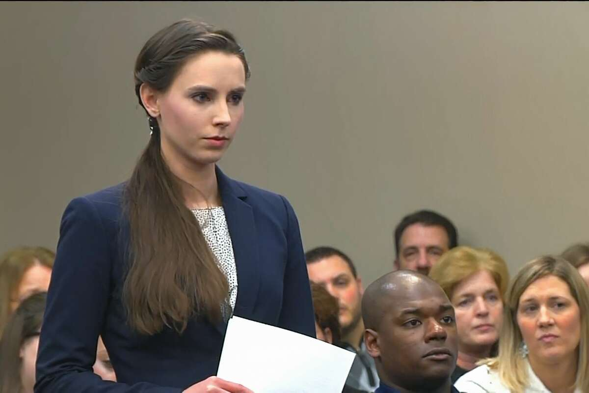 Rachel Denhollander was the first to go public with accusations against Larry Nassar after reporting by the Indianapolis Star.