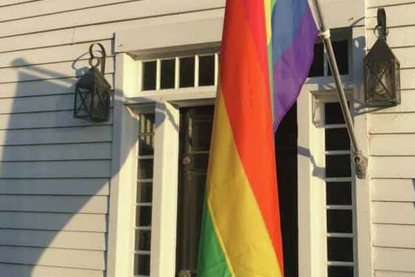 Bethel's Steven Gonzales said this LGBTQ Pride flag and pole were taken from his house last weekend.
