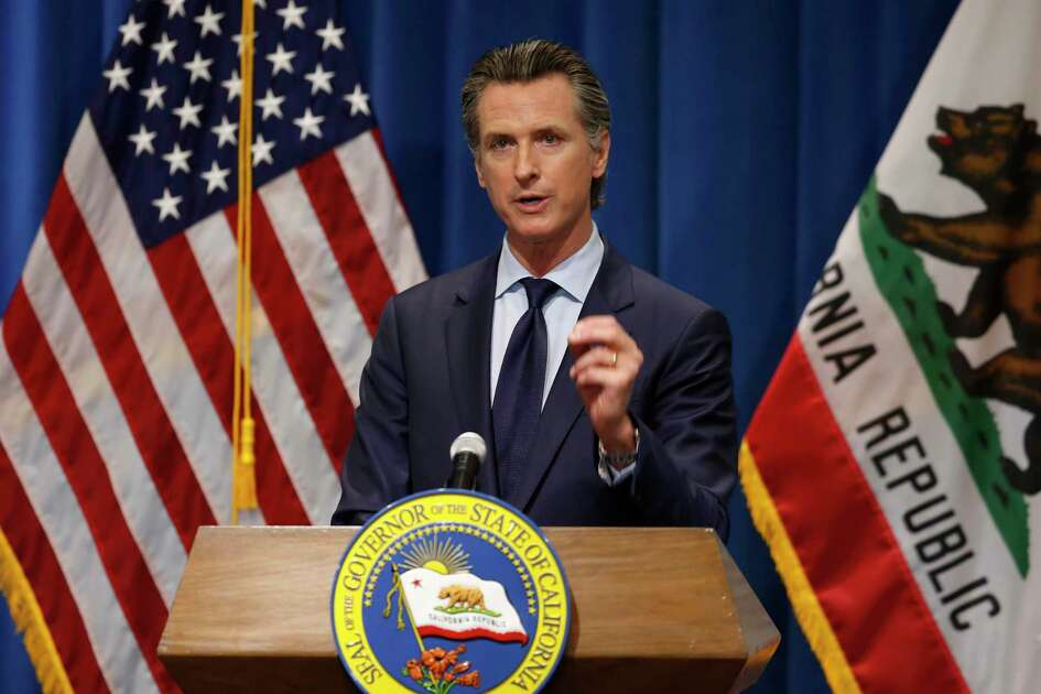 FILE - Gov. Gavin Newsom is poised to announce new restrictions Wednesday amid a surge in COVID-19 infections across the state. (AP Photo/Rich Pedroncelli, Pool, File)