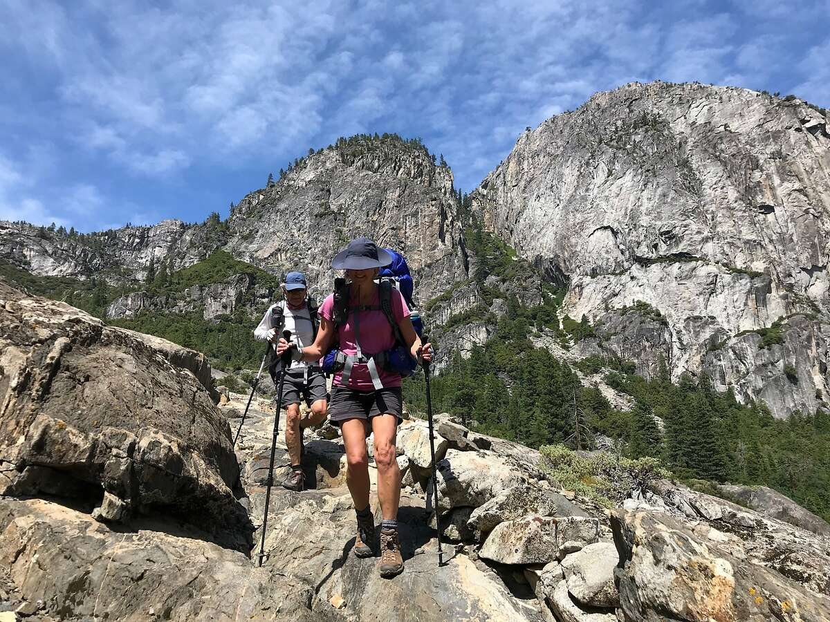 Hikers on the Pacific Crest Trail in Yosemite National Park in 2020