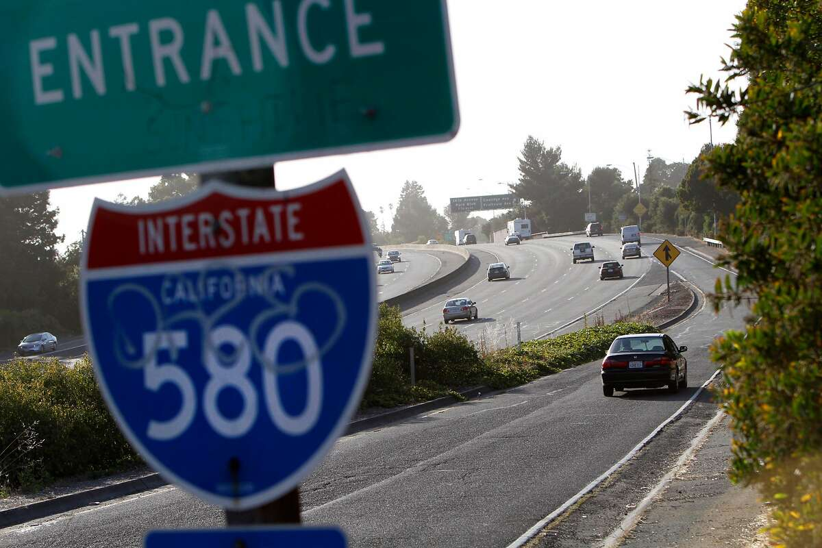 Commuters on the stretch of Interstate 580 between Oakland and Interstate 680 in Oakland, Calif., Monday, June 18, 2012.