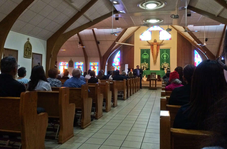 In this file photo, San Luis Rey Catholic Church is pictured during a mass. Photo: Danny Zaragoza
