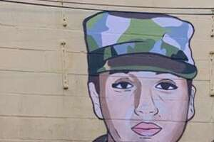 Donkeeboy and Donkeemom collaborate once again to create a mural in honor of Vanessa Guillen.   >>>See photos of the mural process from start to finish