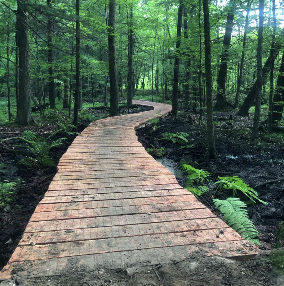 Michigan's Dragon at Hardy Dam, located in Mecosta and Newaygo counties, will soon open three segments to the public for hiking and mountain biking. Photo: File Photo