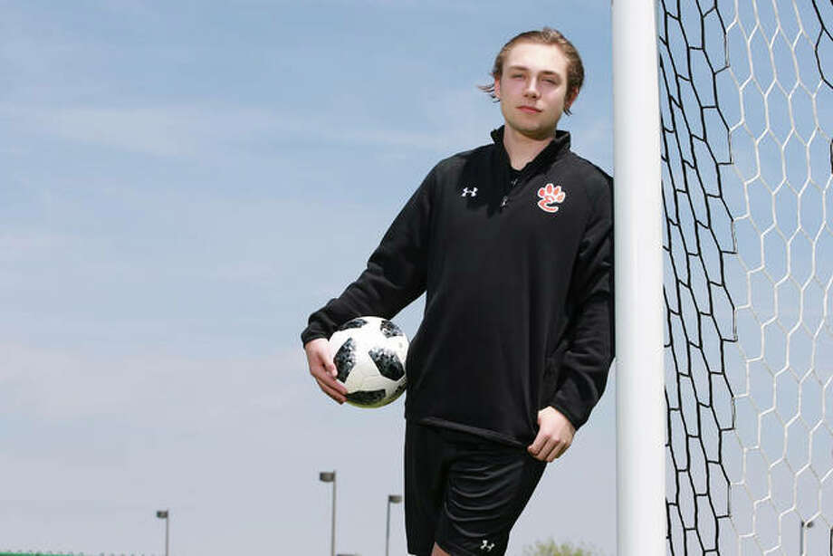 Edwardsville's Cooper Nolan is The Telegraph 2019 Large School Boys Soccer Player of the Year. The All-Stater helped lead EHS to a third-place finish at the IHSA Class 3A State Tournament and is a Lewis and Clark Community College recruit. Photo: Billy Hurst | For The Telegraph