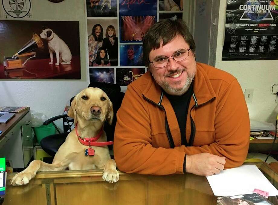 Jim Gleason is pictured with his dog, Blue. (Photo provided)