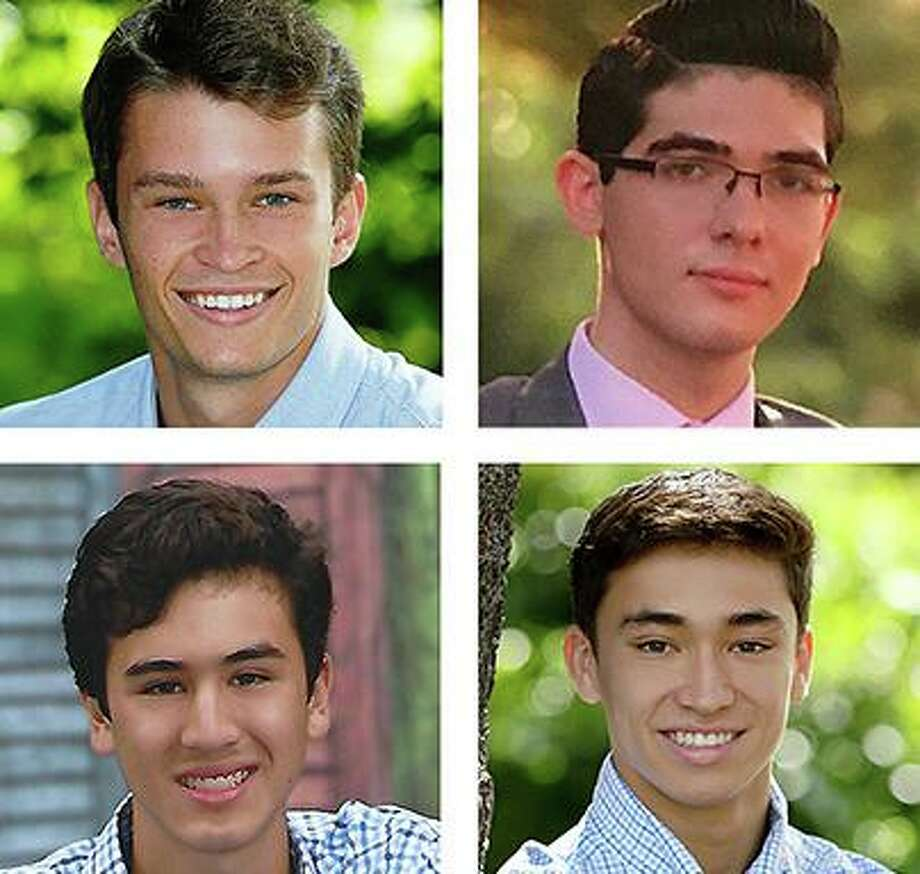 Wilton High School 2020 graduates entering college ROTC programs this fall, clockwise from top left: Karl Pfeiffer, Anthony Cascello, Ben Leung and Harrison Tucker. Photo: Contributed Photo / Wilton Bulletin Contributed