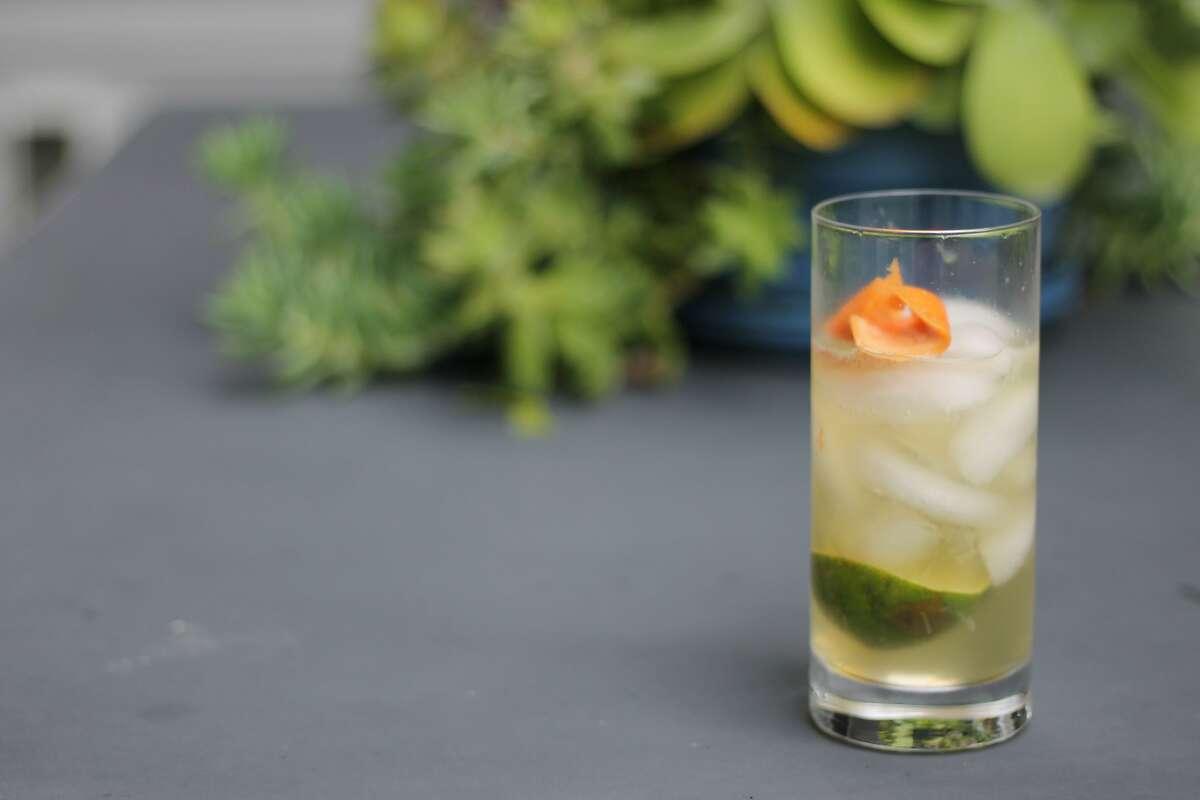 Ramen Shop bartender Lauren Steele's Rhum and Tonic, a quarantine-friendly cocktail.