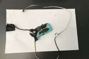 A portable battery charger caught fire and exploded July 1 in Guilford, according to the Guilford Fire Department.