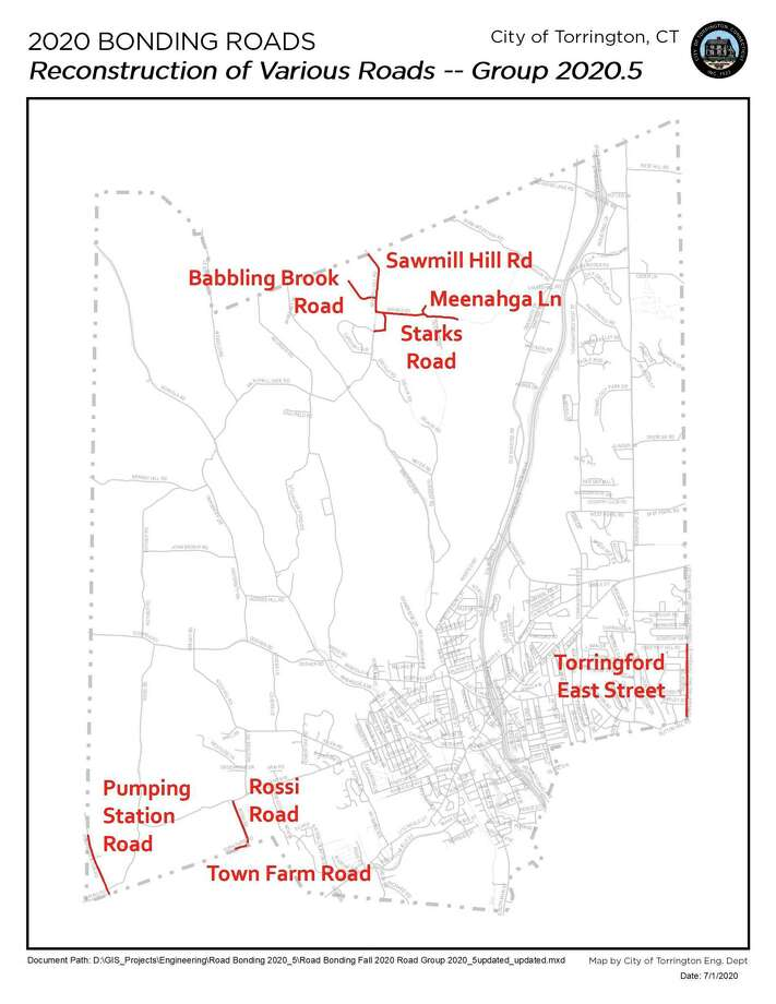 Torrington officials are planning a road reconstruction project. Work is expected to begin July 6. Photo: Torrington Engineering Department