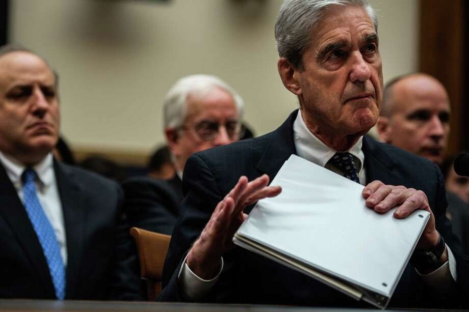 Robert S. Mueller III meets with members of the House Judiciary Committee last July. Photo: Washington Post Photo By Salwan Georges / The Washington Post