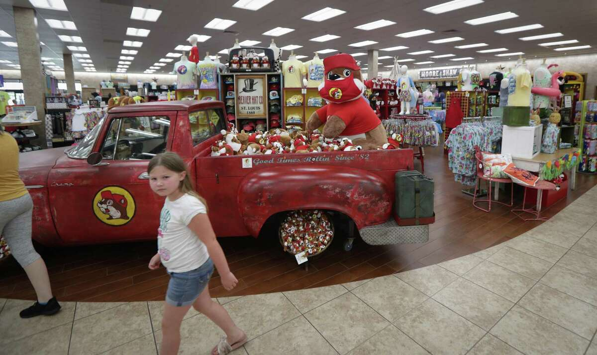 A masked Buc-ee's is a friendly reminder to wear a mask and practice social distancing Friday, June 19, 2020, in Katy.