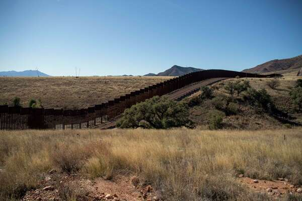 The border barrier in Arizona.