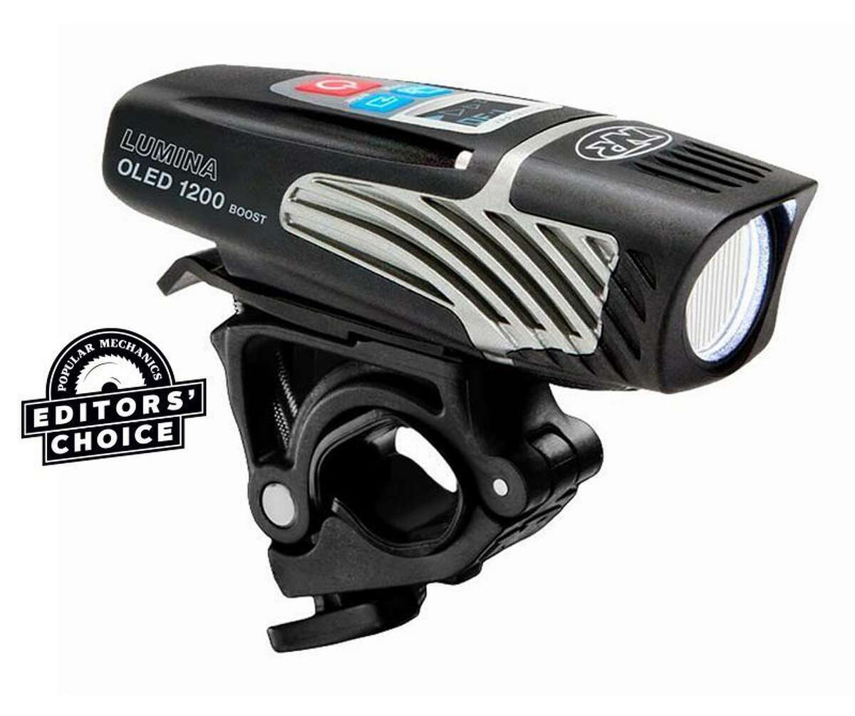 Niterider Lumina Oled 1200 Boost Light: $149.99 Shop Now Max Lumens: 1,200 | Battery Life: 1-18 hours | IPX Rating: 4 Commuting, mountain biking, and gravel riding-the rechargeable Lumina is good for them all. At full power, it blasts out 1,200 lumens in a widespread beam that nicely illuminates the road or trail up to 20 yards ahead. The digital display shows the remaining battery life for whichever of the five light levels and four flash modes you're using. When the battery gets close to empty, the Lumina automatically shifts down to the lowest setting to preserve juice. In testing, the battery indicator proved to be pretty accurate, and in twilight and post-sunset riding conditions, we were able to get almost two hours of life by making good use of the various settings to save power. After 15 months of consistent use, albeit less in the summer, this light is still one of our favorites.