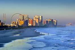 The skyline of Myrtle Beach on the Grand Strand.
