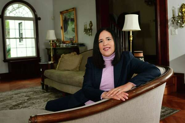 Alexandra Estrella, who began as Norwalk's new superintendent of schools this week, in her New York home in Westchester County.