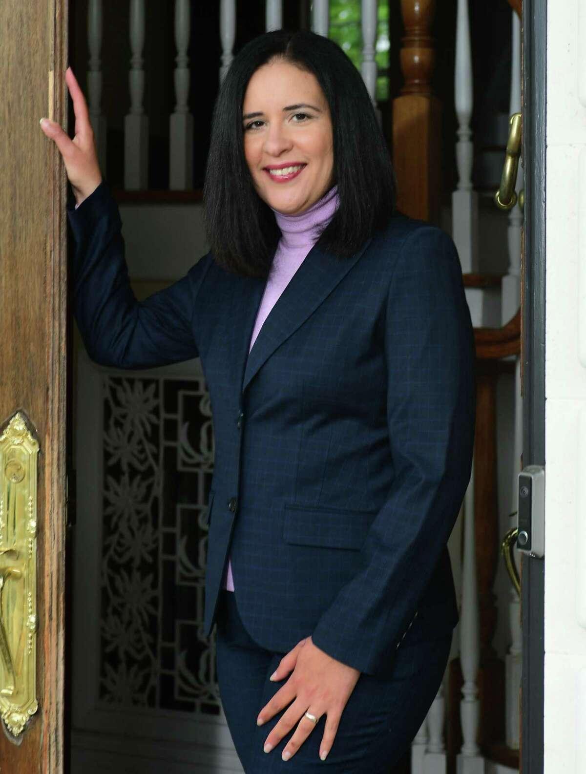 Alexandra Estrella, who began as Norwalk's new superintendent of schools this week, in her New York home in Westchester County.