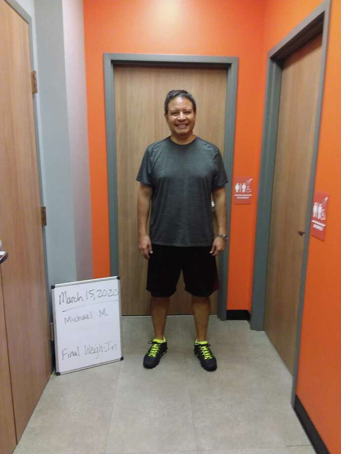 West University resident Michael Martinez lost 50 pounds from the start of 2020 while working out with the guidance of Orange Theory Fitness.