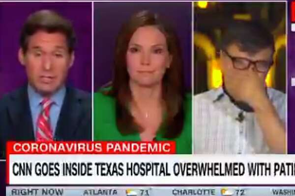 """Correspondent Miguel Marquez spent time inside COVID-19 intensive care units at Methodist Hospital, speaking to staff about the overwhelming surge of patients. The result is a nearly 10-minute long package which aired on """"New Day"""" Thursday morning. Marquez broke down when speaking to the hosts of the show about the strain he witnessed."""