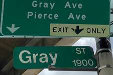 Drivers are forced to exit the Southwest Freeway for Gray Avenue instead of the correct GrayStreet in Houston. The Texas Department of Transportation is looking into what happened.
