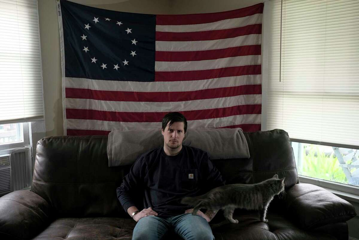 """""""I think when you see stuff like that sometimes it just flips a switch in some people and you're just not the same. ... I almost drank myself to death for two years,"""" said Lucas Gray at home in Pulaski, Va."""
