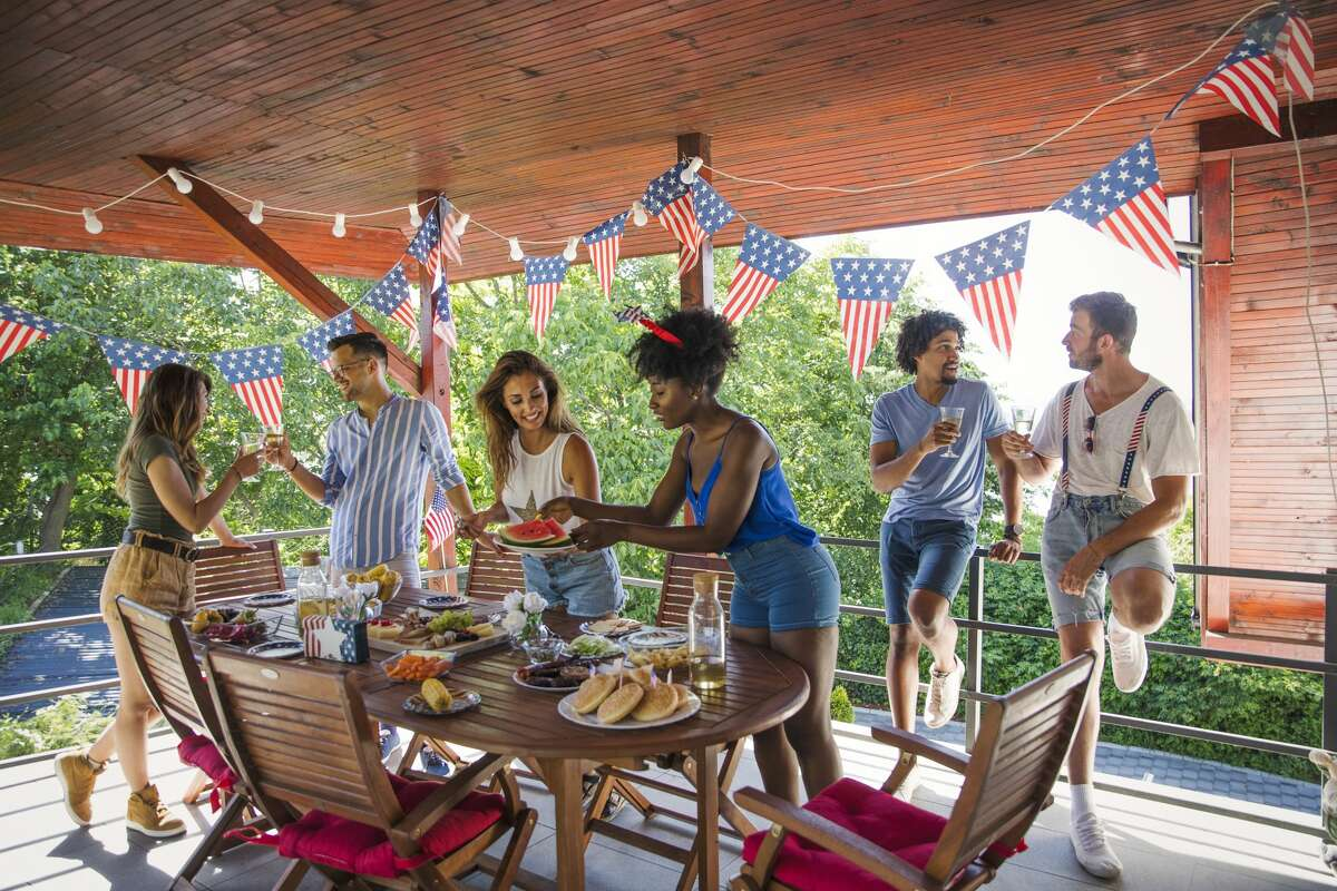FILE PHOTO: Friends celebrating US Independence Day.
