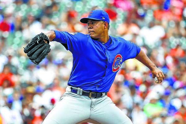 Chicago Cubs starting pitcher Jose Quintana had surgery to repair nerve damage in his pitching thumb Thursday after he cut himself washing dishes.
