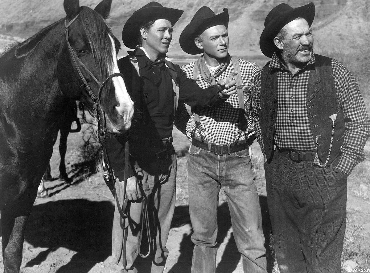 Wagon Master (1950) Directed by John Ford Shown from left: Ben Johnson (as Travis Blue), Harry Carey Jr. (as Sandy), Ward Bond (as Elder Wiggs)