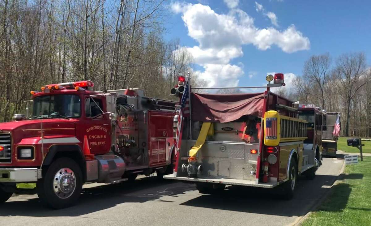Spectrum/Water Witch Hose Co. #2 in New Milford spearheaded the first of a two-part Parade of Unity throughout town May 4, 2020.