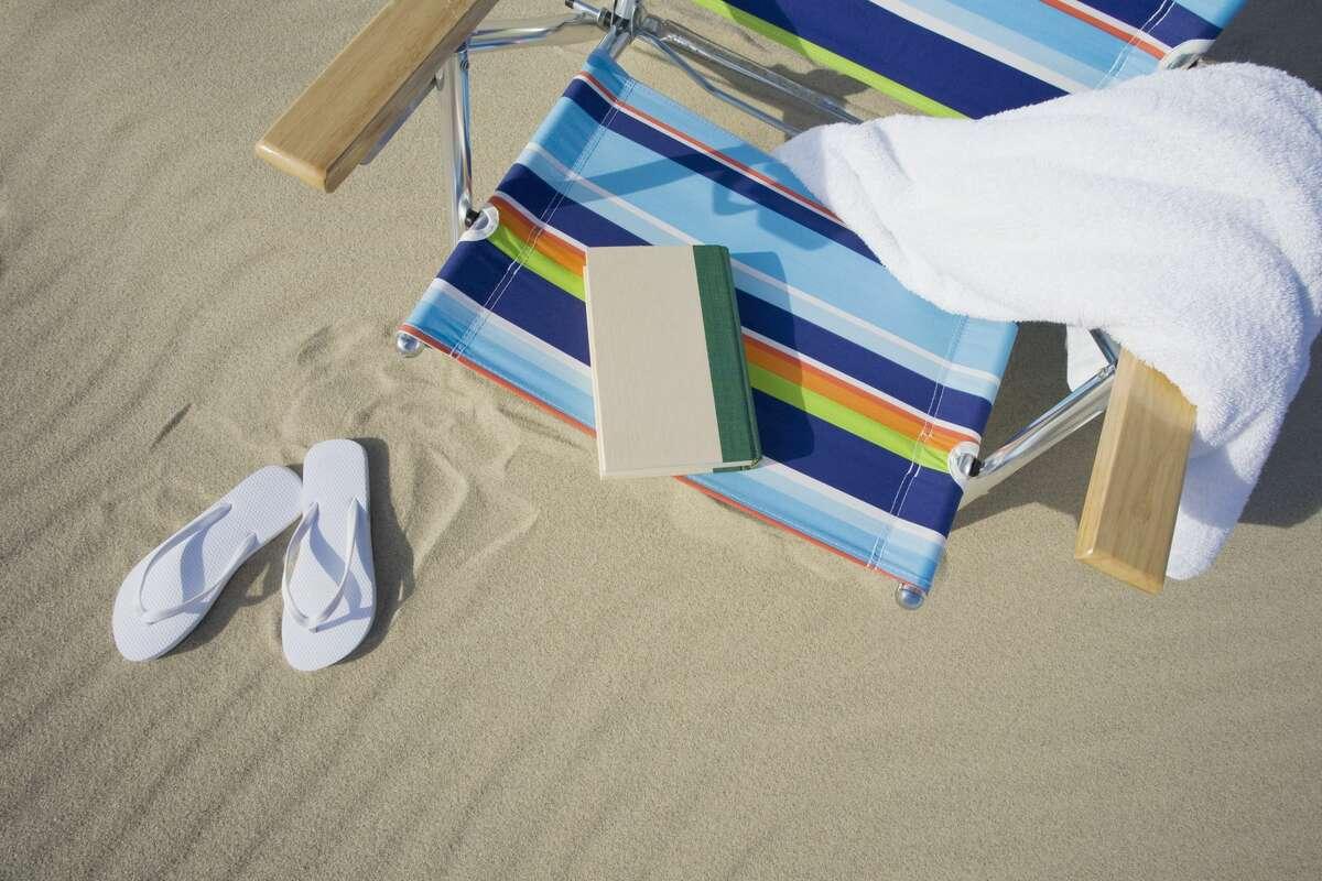 Book on a beach chair