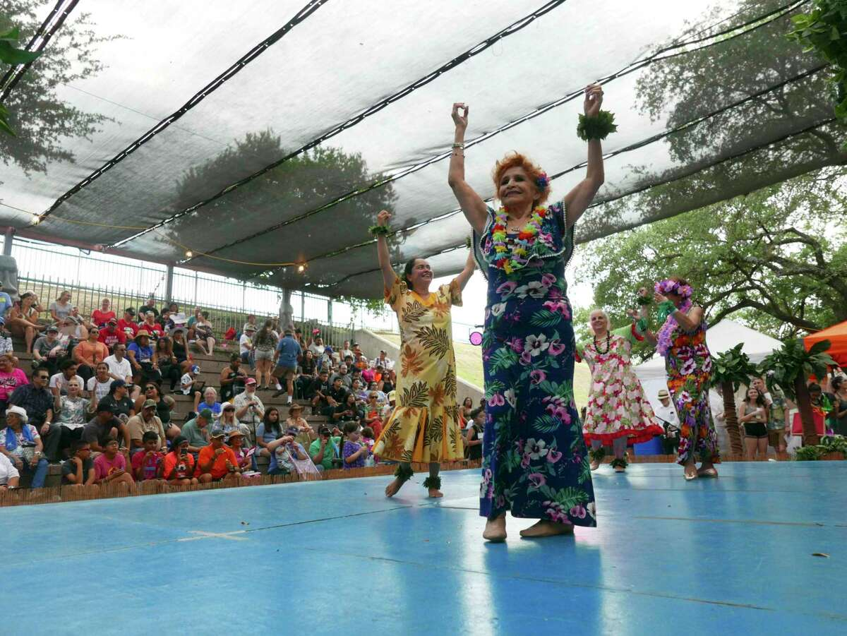 The Texas Folklife Festival - shown in 2018 - is the signature event of the Institute of Texan Cultures. Jo Ann Andera, who has served as director of the festival for most of its history, was laid off Wednesday.