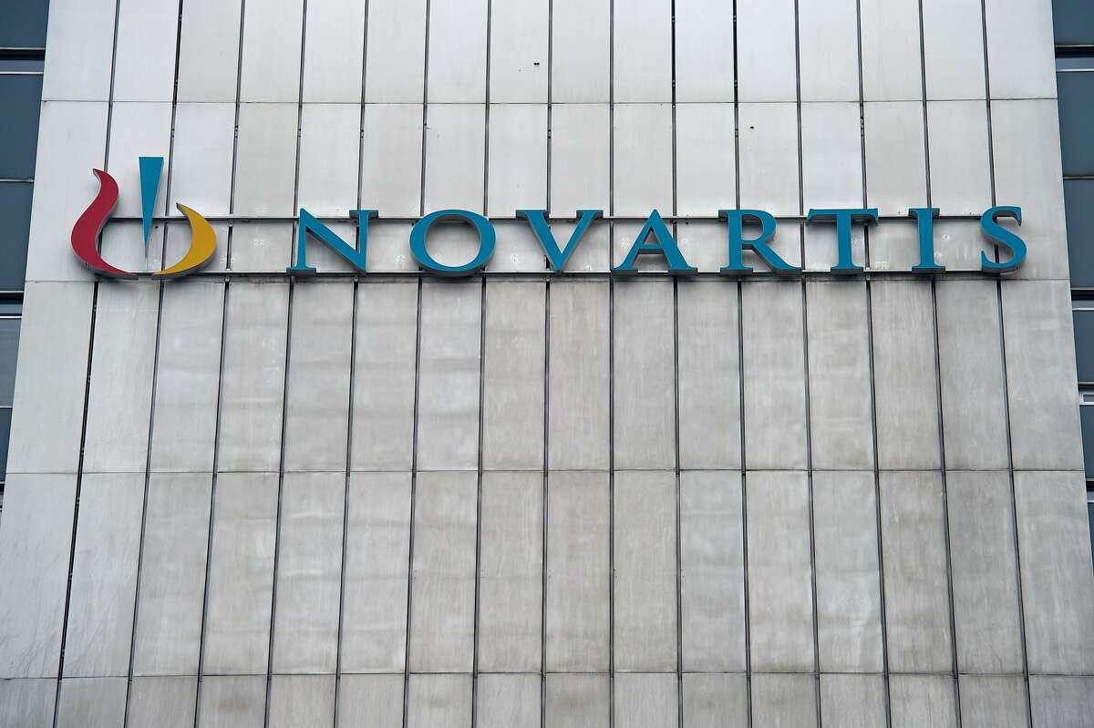 In this file photo the logo of Swiss pharmaceutical giant Novartis is seen at its headquarters in Basel on February 17, 2015.