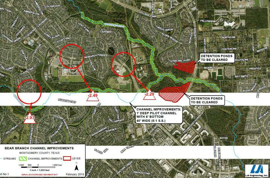 The Bear Branch Drainage Improvement Plan took another step forward in June, as the U.S. Army Corps of Engineers has given preliminary approval to the project's conceptual plans and local municipal utility disrict officials have applied for a preliminary grant to begin funding the project. Photo: Courtesy Images / Courtesy Images
