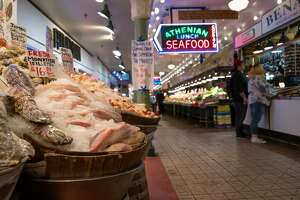 SEATTLE, WASHINGTON - MARCH 10: The Pike Place Market sits virtually empty of patrons on March 10, 2020 in downtown Seattle, Washington. The historic market is Seattle's most popular tourist attraction and business has been especially hard hit by coronavirus fears. (Photo by John Moore/Getty Images)