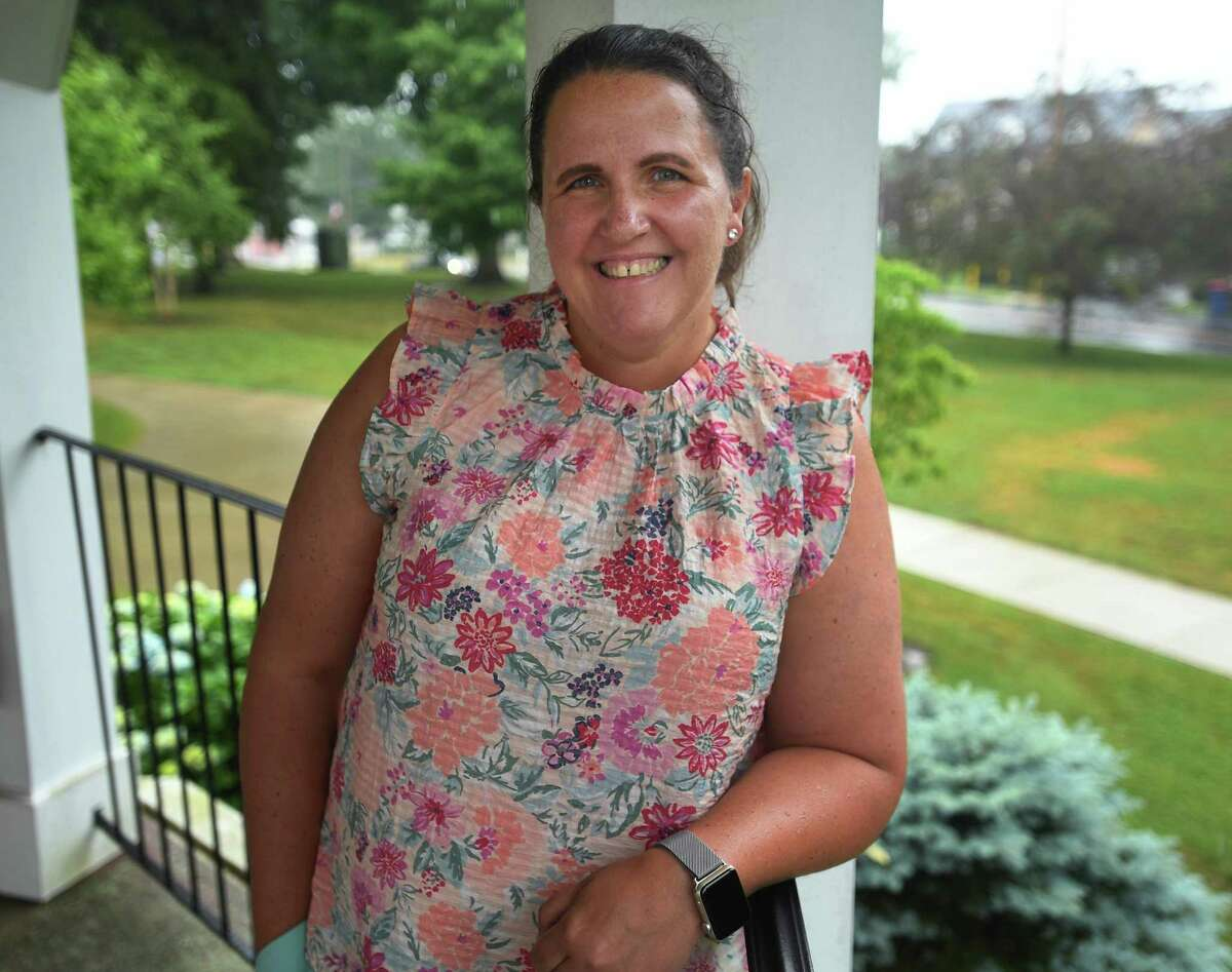 Trumbull High history teacher Katie Boland is the state winner of the national James Madison fellowship for history teachers, allowing her to pursue her masters degree in Trumbull, Conn. on Tuesday, June 30, 2020.