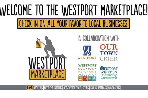 The home page for the Westport Marketplace, a new initiative to connect the community to local businesses.