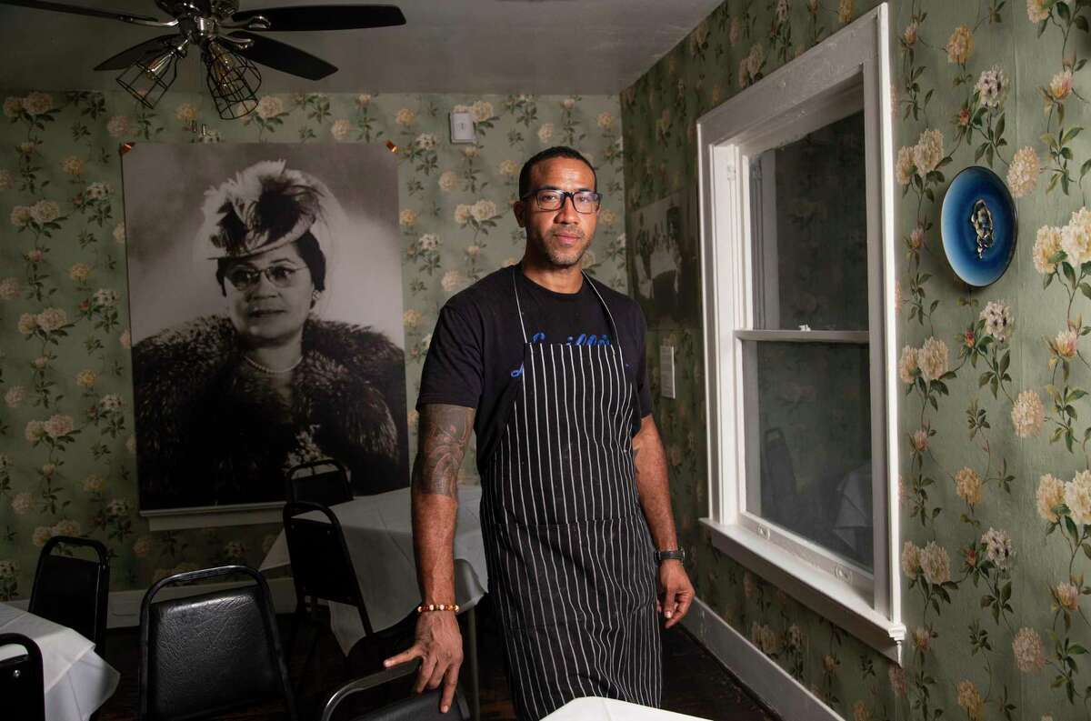 Chef Chris Williams at Lucille's restaurant on Saturday, June 20, 2020, in Houston.