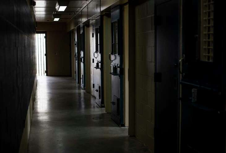 FILE -- A hallway lined with cell units and shower stalls at the former Arthur Kill Correctional Facility in New York, Sept. 12, 2017. The need to repair the nation's criminal justice system has brought together the two parties in a way that is unusual in these days of partisan strife. (Andrew Seng/The New York Times)