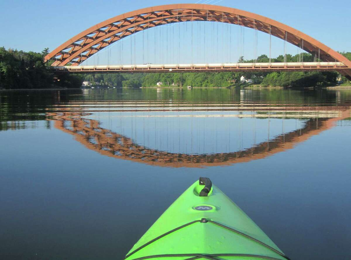 Gary Garavuso of Mechanicville took this photo of the Twin Bridges on a sunrise kayak trip on the Mohawk River.