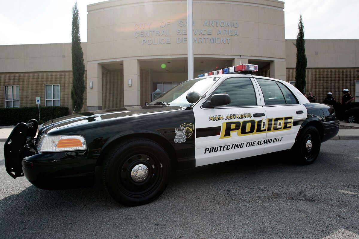 A San Antonio Police Department patrol car.